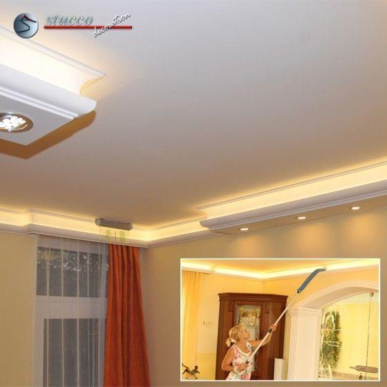 LED Lichtleiste für direkte und indirekte Deckenbeleuchtung  mit Plexistreifen ist einfach zu entstauben