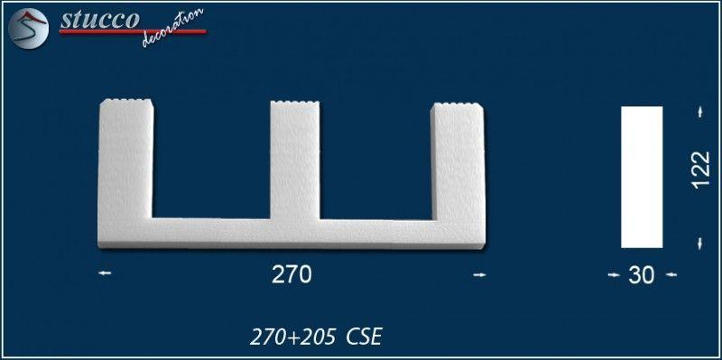 Fixierungsstück aus Styropor 270+205-CSE