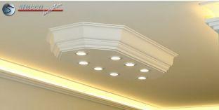 LED Stucklampe Düren 21/1000x500-2 Design Lampen mit Stuck und LED Spots