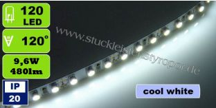 3528 SMD 120 LED Strips kaltweiß