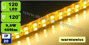 SMD 3528 LED Strips 120 LEDs/m warmweiß 9,6W/m IP20