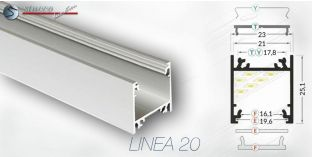 LED Aluprofile LINEA 20