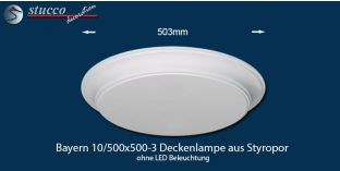 Bayern 10-500x500-3 Deckenlampe ohne LED Beleuchtung