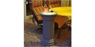Dekosäule Hartschaum ODKK 410/755 mit Quarzsandbeschichtung und Beleuchtung
