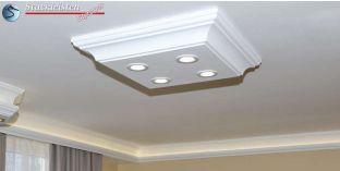 Design Stucklampe mit LED Spots Trier 14/500x500-1