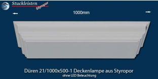 Düren 21/1000x500-1 Deckenlampe ohne LED Beleuchtung