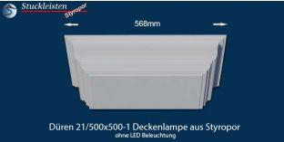 Düren 21/500x500-1 Deckenlampe ohne LED Beleuchtung
