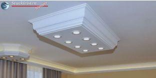 LED Deckenlampe Düren 21/1000x500-1 Design Lampen mit Stuck und LED Spots
