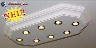 LED Deckenlampe Trier 14/1000x500-2 mit Stuck und LED Spotlampen