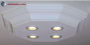 LED Deckenbeleuchtung Trier 14/500x500-2 Design Lampe mit Stuck und LED Spots