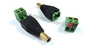 Anschluss-Adapter für LED-Strips Lüsterklemme auf 5,5 / 2,1 mm Stecker