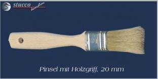 Pinsel mit Holzgriff, 20 mm