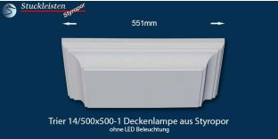 Trier 14/500x500-1 Deckenlampe ohne LED Beleuchtung