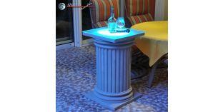 Dekosäulen Hartschaum ODKK-2 360/768 mit Quarzsandbeschichtung und Beleuchtung