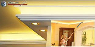 Stuckleiste für Kombi Beleuchtung Dortmund 270+209 PLEXI PLUS