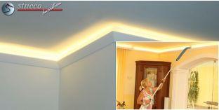 LED Stuckleiste für indirekte Beleuchtung Fulda 212 PLEXI PLUS
