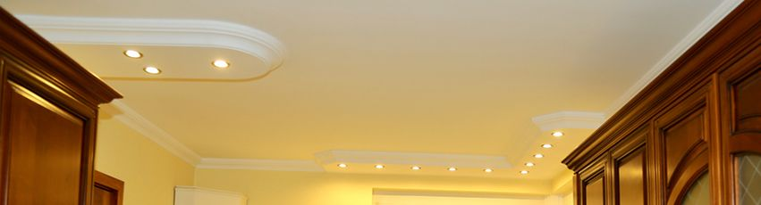 Stuckprofile mit Dekor für direkte Beleuchtung
