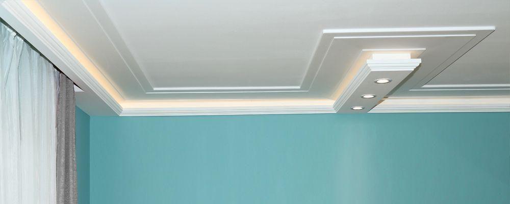 Unverzierte Styroporleisten für direkte Beleuchtung LED