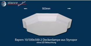 Bayern 10-500x500-2 Deckenlampe ohne LED Beleuchtung