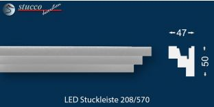 LED Wandleiste Erfurt 208 für indirekte Beleuchtung