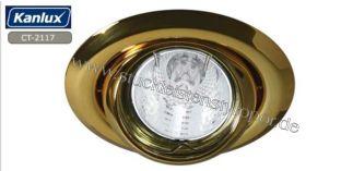 Einbaurahmen für LED Spot Einbauleuchte kippbar gold