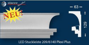 LED Stuckleisten 'Dortmund 209 PLEXI PLUS' zur Deckengestaltung