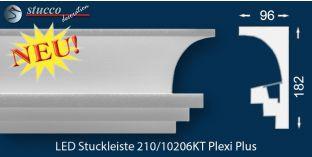 Stuckleisten für indirekte Beleuchtung Vorhangleiste Köln 210 PLEXI PLUS