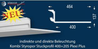 LED Leiste für Kombi Beleuchtung München 400+205 PLEXI PLUS