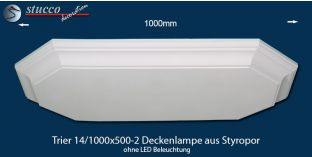 Trier 14-1000x500-2 Deckenlampe aus Styropor ohne LED Beleuchtung