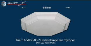 Trier 14-500x500-2 Deckenlampe aus Styropor ohne LED Beleuchtung