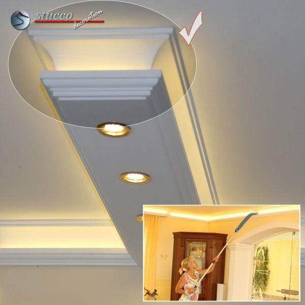 endst ck f r direkte und indirekte beleuchtung essen 190 2x202 plexi plus. Black Bedroom Furniture Sets. Home Design Ideas