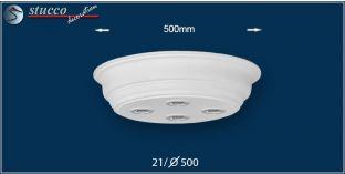 LED Deckenbeleuchtung Düren 21/500x500-3 Design Lampen mit Stuck und LED Spot