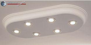 Einbaurahmen für LED Spot Deckenleuchte kippbar chrom