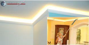 Stuckleisten für indirekte Wandbeleuchtung München 204 Plexi Plus