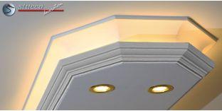 Stuckleiste für direkte und indirekte Beleuchtung Essen 400+2x202