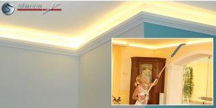 LED Stuckleiste für indirekte Beleuchtung Berlin 201 Plexi Plus