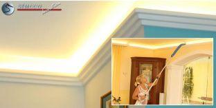 LED Wandleiste Erfurt 208 für indirekte Beleuchtung Plexi Plus