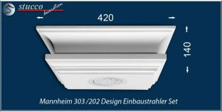Mannheim 303/202 Einbaustrahler Set LED - warmweiß