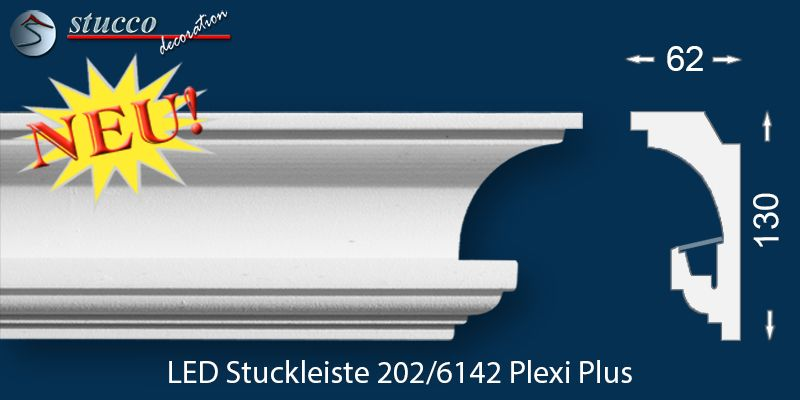 LED Stuckleiste 'Essen 202 PLEXI PLUS'