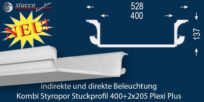 Augsburg 304 205 einbaustrahler set mit stuck und leds mehrfarbig rgb - Lichtleiste deckenbeleuchtung ...