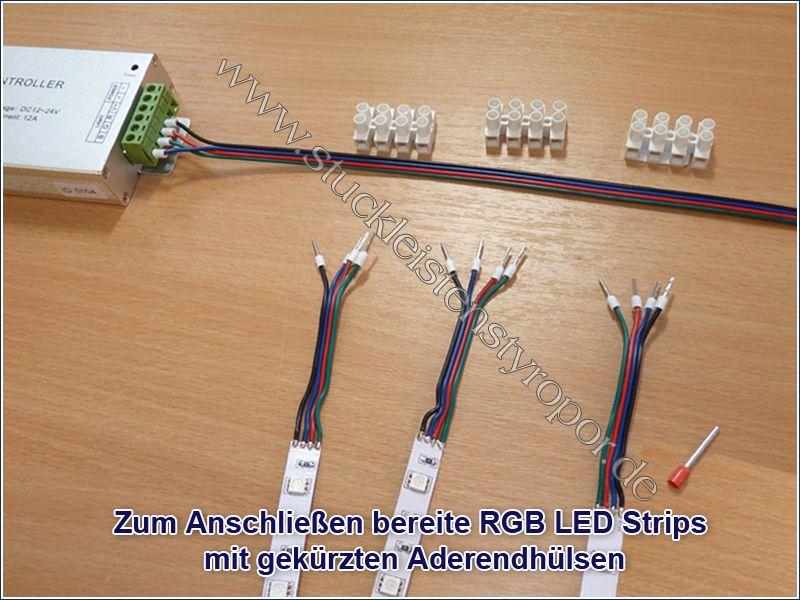 LED Dimmer, RGB Controller - Stuckleisten aus Styropor