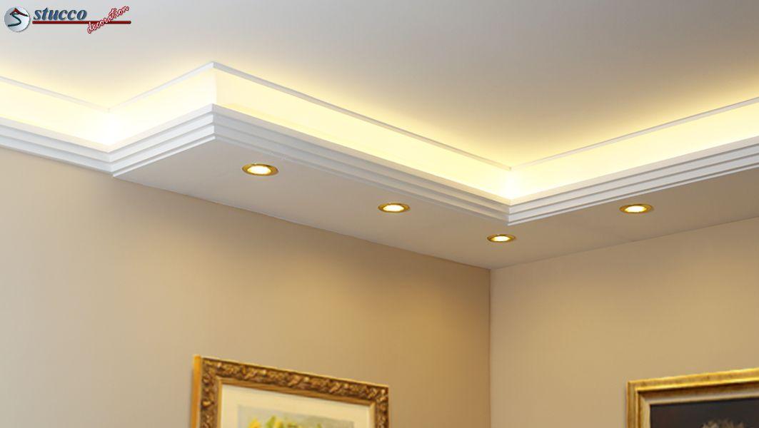 kombi stuckleisten f r direkte und indirekte beleuchtung stuckleisten aus styropor. Black Bedroom Furniture Sets. Home Design Ideas
