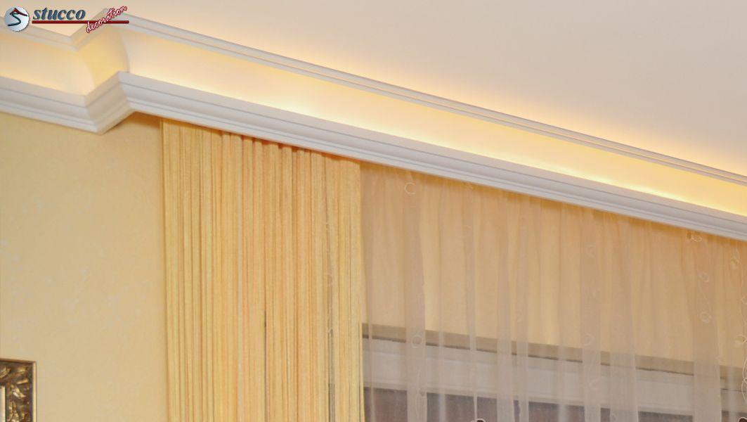 indirekte deckenbeleuchtung mit stuckleisten styropor. Black Bedroom Furniture Sets. Home Design Ideas