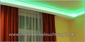 Indirekte Beleuchtung mit RGB LED Strips