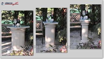 Beschichtete Säulen - verschiedene Durchmesser der Styroporsäulen