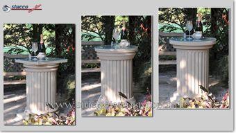 Beschichtete Dekosäulen - verschiedene Säulenfüße und Kapitelle