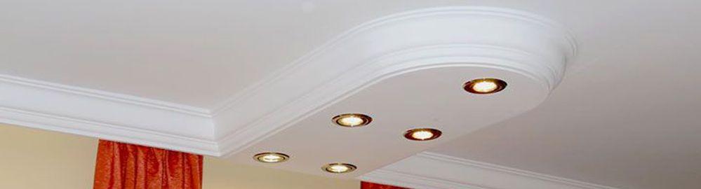 Bezaubernde LED Deckenbeleuchtung mit Styroporstuck